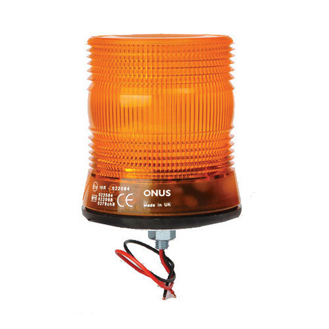 ONUS COMPACT SINGLE BOLT XENON STROBE FLASHING BEACON (DUAL-VOLTAGE)